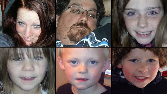 A family of two adults and four kids went out to play in the snow Sunday and has not come home, the Pershing County Sheriff's Office said Monday, December 9, 2013. James Glanton, 34, and Christina MacIntee, 25, are missing, along with their children: a 10-year-old, two 4-year-olds and a 3-year-old, the sheriff's office said. A search including a Navy helicopter went on through Sunday night and, after suspending for a couple of hours, resumed Monday morning.