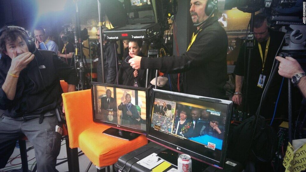 A glimpse at behind-scenes-coverage at FNB Stadium.