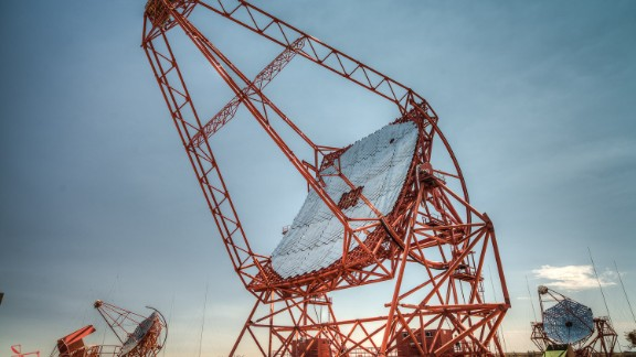 The High Energy Stereoscopic System (HESS) is located in Namibia, near the Gamsberg Mountains, an area known for its excellent optical quality.