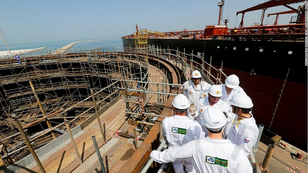 Prelude's storage tanks will be based below its vast deck and are capable of storing up to 220,000 m3 of LNG (liquified natural gas), 90,000 m3 of LPG (liquified petroleum gas), and 126,000 m3 of condensate (the hydrocarbons produced after a gaseous substance is transformed into a liquid). <br /><br />This total storage capacity is equivalent to around 175 Olympic swimming pools, Shell estimates. The company also ventures that the gas produced at the Prelude field alone in one year could cater for 117% of Hong Kong's annual energy needs.