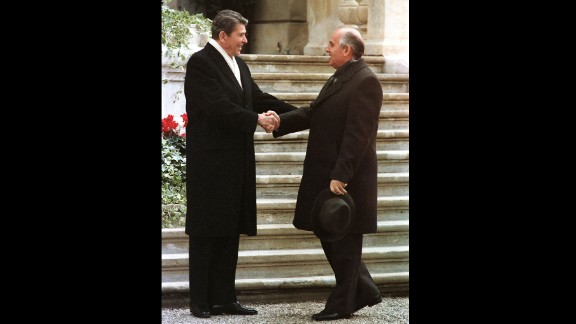 In November 1985, during the height of the Cold War, Reagan and Soviet leader Mikhail Gorbachev met for the first time at the villa Fleur D'Eau at Versoix near Geneva.