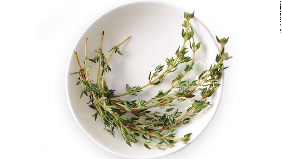 <strong>Thyme -- </strong>Health perk: The antioxidants in thyme may alleviate respiratory ailments like bronchitis, according to studies, and keep you breathing easy even when you're not sick. Use it in: Roasted poultry and meats, and seafood.