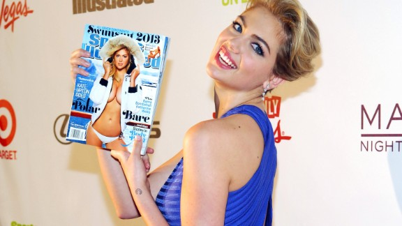 The 2012 and 2013 issues had the same cover model, American actress and model Kate Upton. The latter was partly shot in Antarctica.