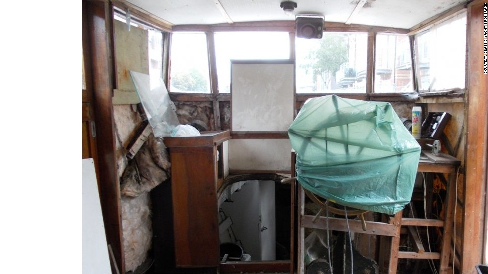 A view of the wheelhouse of Lady Sybil H, where Conway hopes eventually to be able to take the helm.