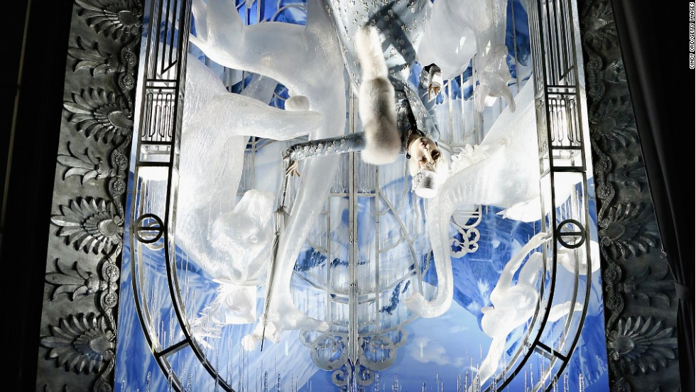 "<strong>""Holidays on Ice,"" Bergdorf Goodman, New York:</strong> No, that's not an upside-down photo -- it's an upside-down window. The holiday featured in this wintry scene? April Fool's Day."