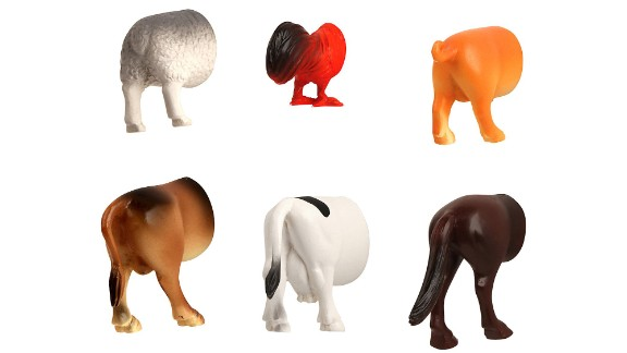 """White Elephant parties are all about outrageous gifts. The pressure to bring the wackiest, most out-there gift can actually make shopping for these parties quite difficult. We suggest household utensils or useful object -- like these magnets from <a href=""""http://www.casa.com/p/kikkerland-farm-animal-butt-magnets-set-of-6-512184"""" target=""""_blank"""" target=""""_blank"""">Casa.com</a> -- or gifts steeped in kitsch."""