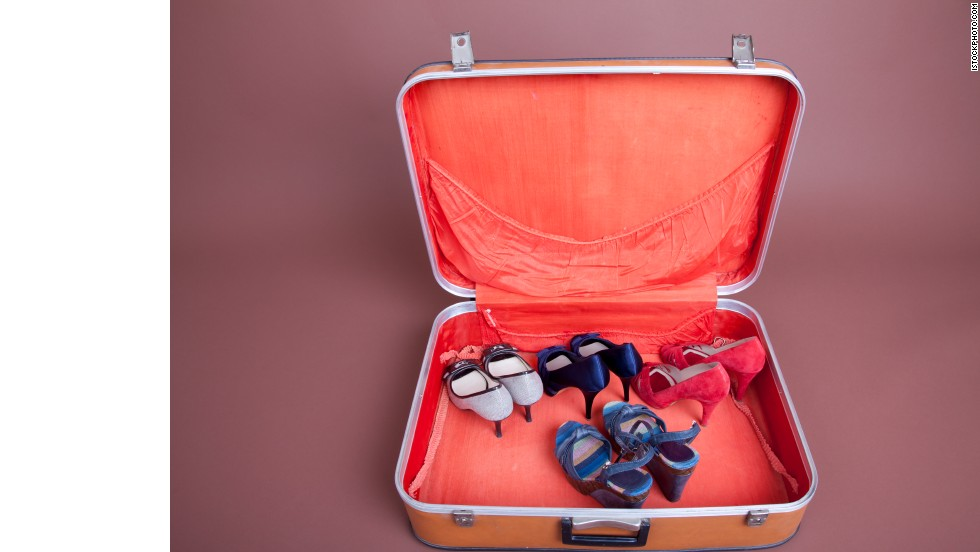 Choose your shoes first when packing, then match your clothes.