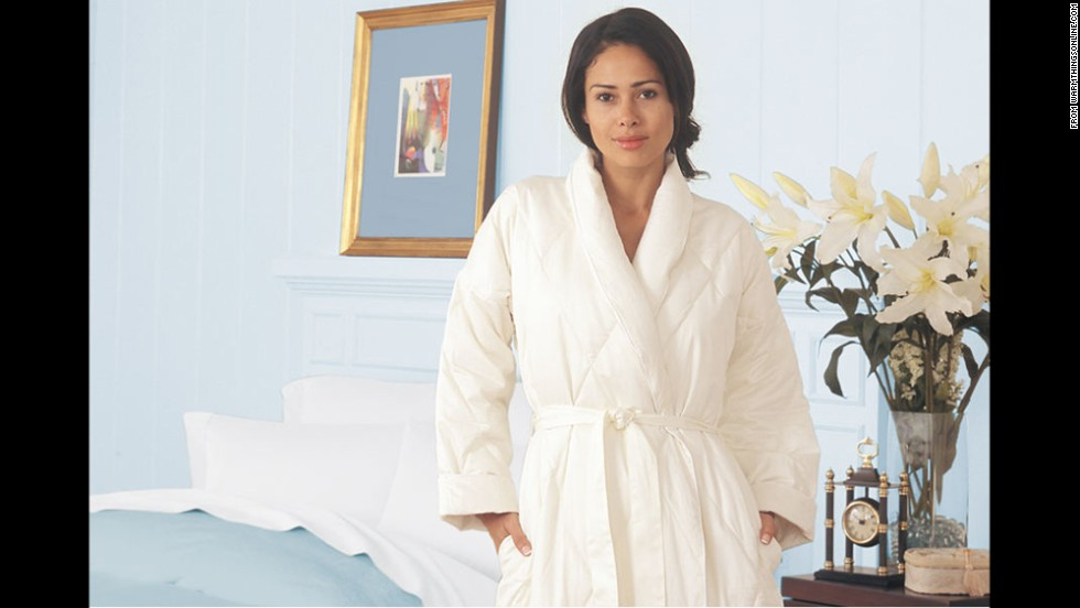 In-laws or the parents of the person you're dating can be awkward to shop for. Choose a gift that pampers them -- like a luxurious down-filled robe -- and hopefully inspires warm, fuzzy feelings about you!