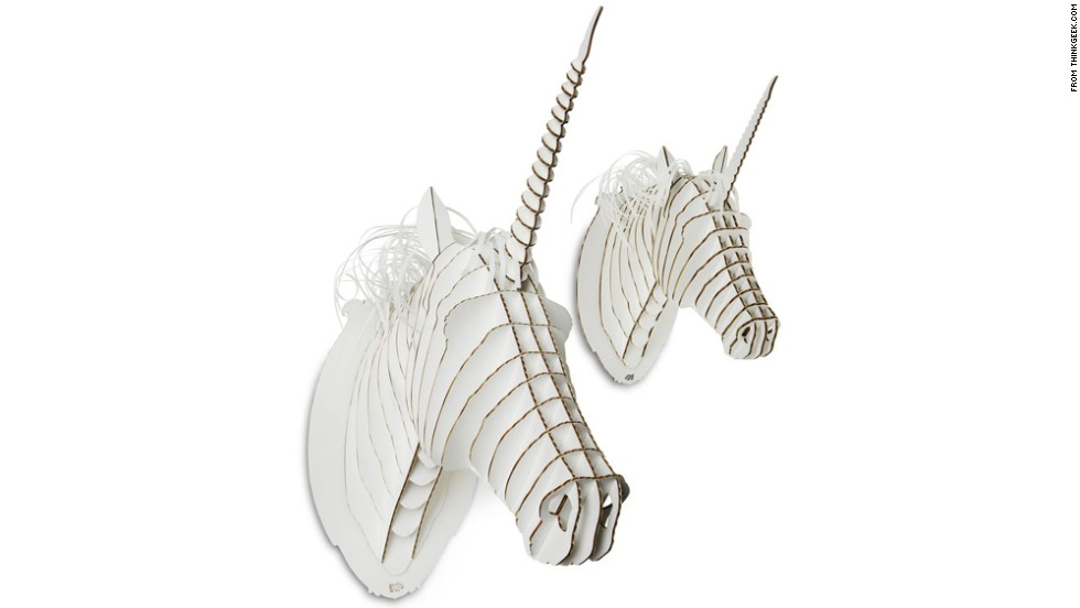 "Teenagers want the independence of adults, but they haven't given up on all the whimsy of childhood. Gifts that give a nod to their imagination, like these cardboard unicorn trophy heads from <a href=""http://www.thinkgeek.com/"" target=""_blank"">ThinkGeek</a>, are a great, affordable example."