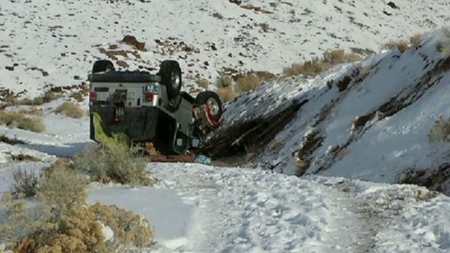 A Nevada family survived two days stranded in freezing temperatures after an accident.