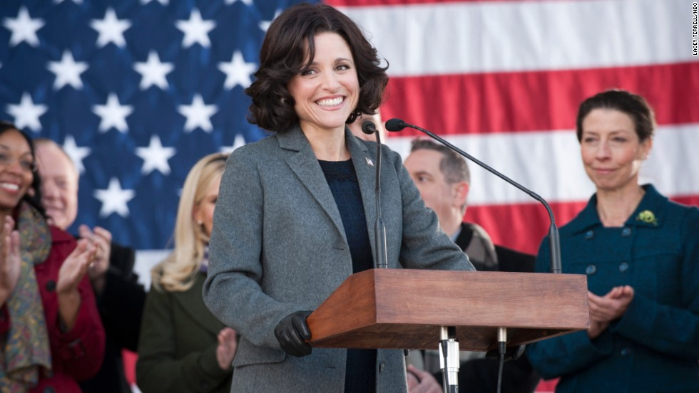 "<strong>Outstanding female actor in a comedy series: Julia Louis-Dreyfus</strong> ""Veep"" (pictured); <strong>Mayim Bialik </strong>""The Big Bang Theory;"" <strong>Julie Bowen </strong>""Modern Family;"" <strong>Edie Falco </strong>""Nurse Jackie;"" <strong>Tina Fey </strong>""30 Rock."""
