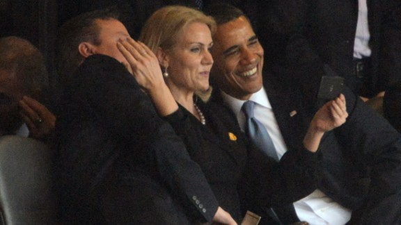 Thorning-Schmidt with a smiling Obama