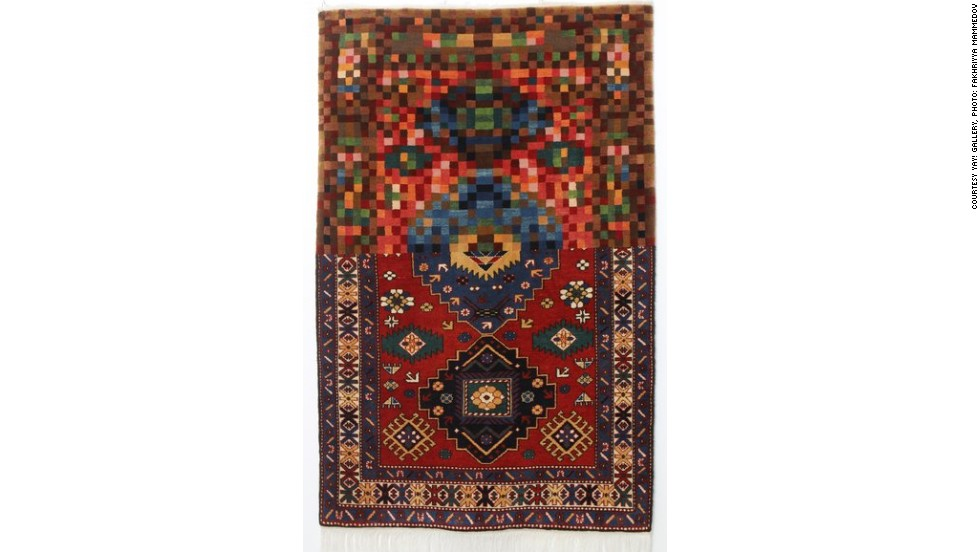 "Faig Ahmed's woolen handmade carpets are based on Azerbaijan's ancient weaving traditions. They are constructed by hand and, for the most part, follow a conventional design. In each case, however, Ahmed reconfigures part of the pattern. <br /><br />With this carpet, titled Pixelate Tradition, much of the pattern has disintegrated into pixels. By disrupting traditional forms, Ahmed aims to show how, ""Ideas that have been formed for ages are being changed in moments""."