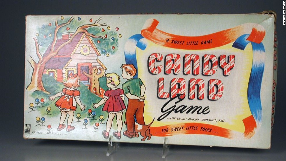 Candy Land board game by the Milton Bradley Company in 1949. Schoolteacher Eleanor Abbott invented the game in 1948 while recuperating in a polio ward in San Diego.
