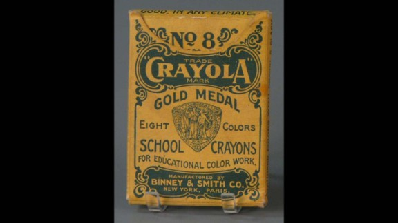 No. 8 Crayola School Crayons by The Binney & Smith Company (Crayola) circa 1905. Edwin Binney and C. Harold Smith started out producing pencils and chalk for classrooms. It wasn