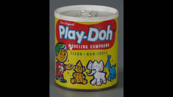 The Original Play-Doh Modeling Compound by Rainbow Crafts, Inc in 1962. Originally, Play-Doh was meant to be wallpaper cleaner. By the mid-1950s, the product went from the color white, to red, blue and yellow and into nearly every playroom in America.