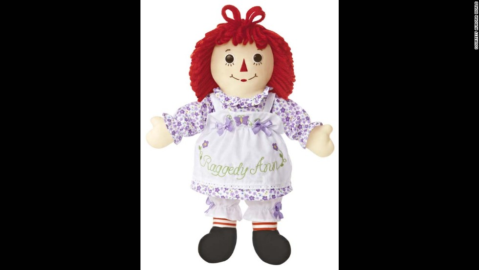 Garden Raggedy Ann Doll by Aurora for 2013. The cloth dolls of Ann and her brother Andy have stayed in production since Volland issued the first set of dolls in 1918. Raggedy Ann entered the National Toy Hall of Fame in 2002, with Andy joining her in 2007.