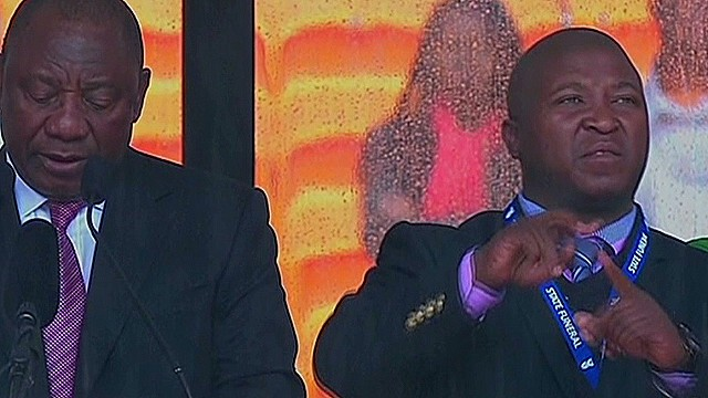 Interpreter at Mandela memorial a fake?