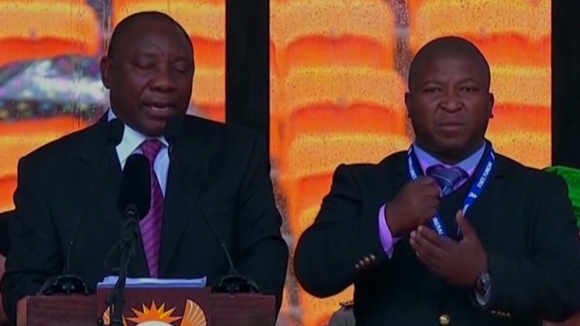 Fake sign language interpreter outrage