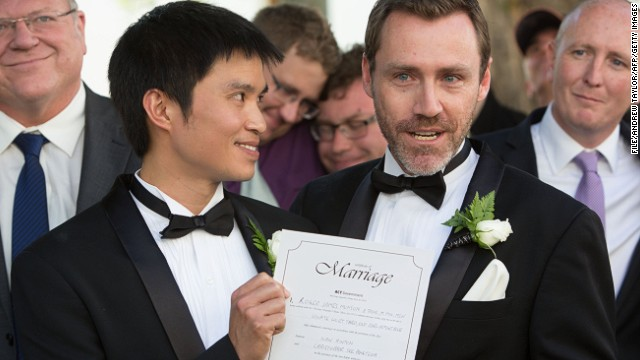 The Australian High Court rules that same-sex marriages held last week in Canberra, Australia will be annulled.