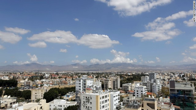 The capital city Nicosia, the largest on the island and divided by the Green Line.