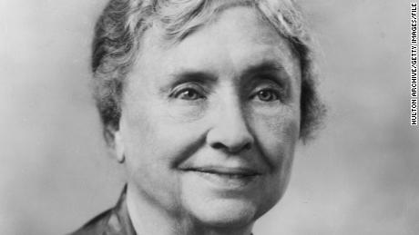 0c2b27dee2 circa 1956  Headshot portrait of American educator and activist for the  disabled Helen Keller (