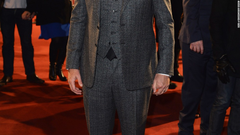 """Anchorman 2's"" Will Ferrell steps into the spotlight in London at the premiere of his new movie."