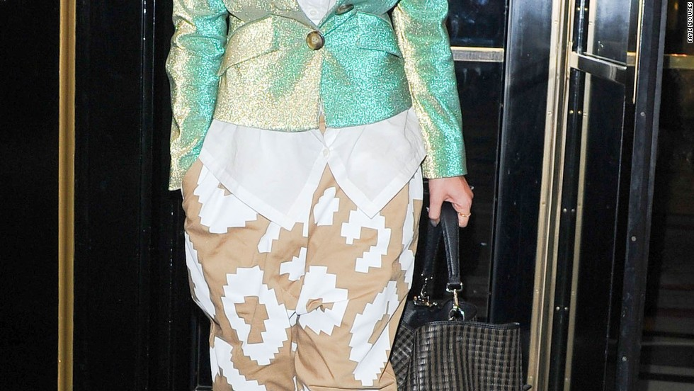 Rita Ora is decked out in Vivienne Westwood while in London on December 11.
