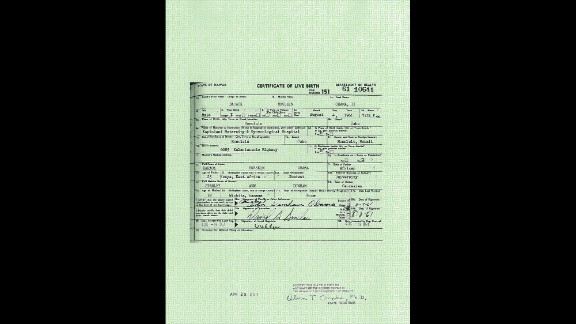 "President Obama's ""long form"" birth certificate"