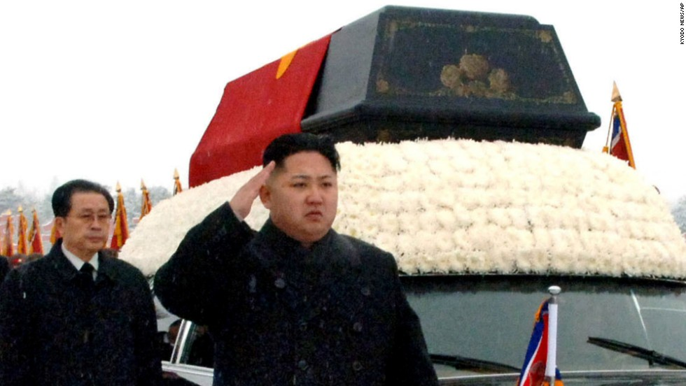 Jang follows Kim Jong Un during the funeral procession for Kim Jong Il in Pyongyang on December 28, 2011.