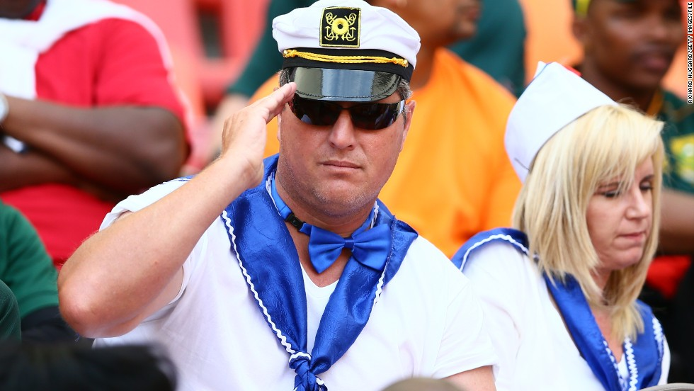 Hello sailor! Spectators' costumes, such as these, just get better and better -- as does the quality of the action on the pitch, says former Rugby World Cup winner Will Greenwood.