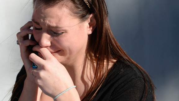 SaSha Meiler is overcome with emotion after hearing the voice of her younger sister, a freshman.