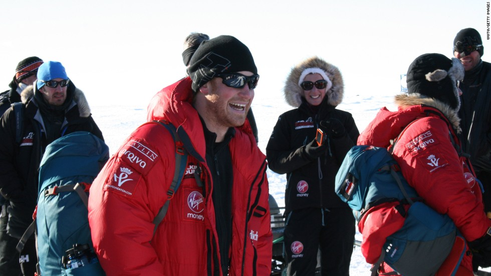 Prince Harry and Team UK leave Novo, Antarctica, for their second base camp, at 87 degrees south, the starting point for the race.