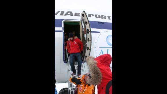 Prince Harry arrives in Novo, Antarctica.