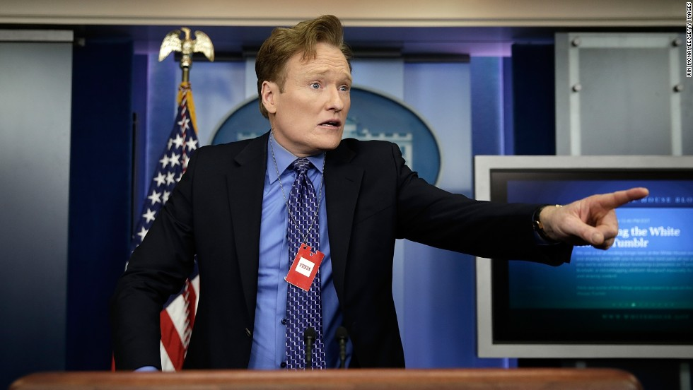 Television host and comedian Conan O'Brien turned 50 on April 18.