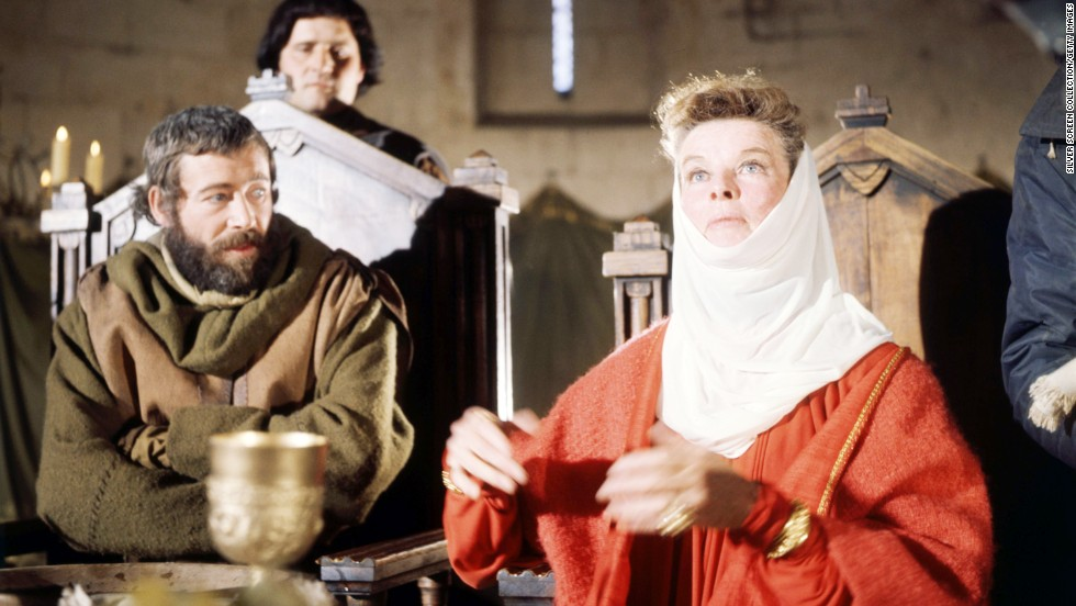 "Katharine Hepburn stars opposite O'Toole in the 1968 film ""The Lion in Winter."" His role as Henry II earned him another Oscar nomination."