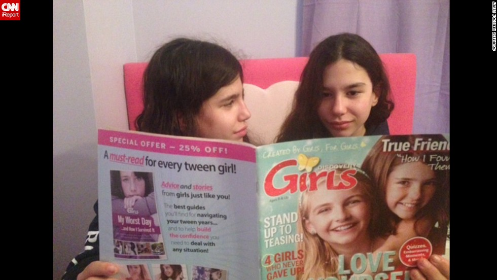 "Rebecca Levey got her twin daughters a subscription to Discovery Girls, a magazine for young tweens. ""The magazine is great, very empowering and positive and I think it's fun to get something via snail mail,"" said Levey, a co-founder of a video-sharing platform called <a href=""http://www.kidzvuz.com/"" target=""_blank"">KidzVuz.</a>"
