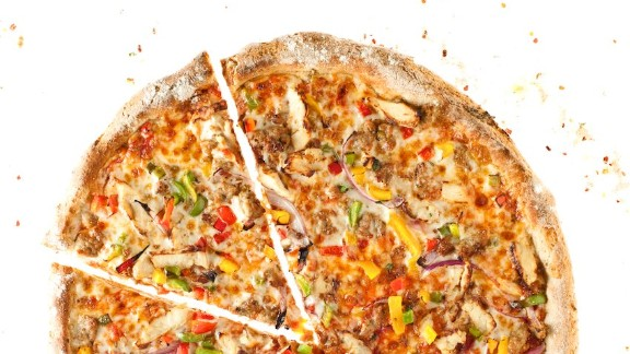 The company's menu offers nine pizzas, including the Ragin' Cajun, made of ingredients such as beef sausage, chicken, garlic, mixed pepper and red onion.