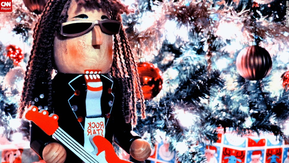 "Quirky Christmas ornaments seem to be the way to go. <a href=""http://ireport.cnn.com/docs/DOC-1065672"" target=""_blank"">Coty L. Reed </a>bought this rock star nutcracker in 2011, and it always makes it to the branches of their tree. ""My son, Jameson, LOVES nutcrackers,"" she said. ""I believe he is definitely English - seems to have a John Lennon style to me."""