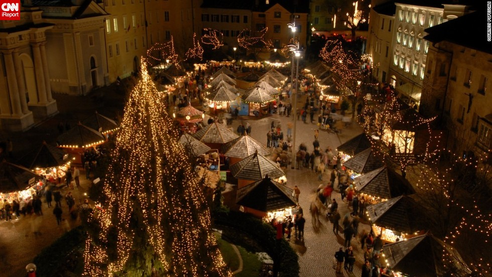 "The German-speaking Italian province of South Tyrol is a popular destination for tourists wanting to experience some of its famous Christmas markets. <a href=""http://ireport.cnn.com/docs/DOC-1066512"" target=""_blank"">PGPescali</a> was working on a feature in South Tyrol when he decided to capture the festivities. ""I like colors and lights, the best time to see them is when it snows,"" he said."