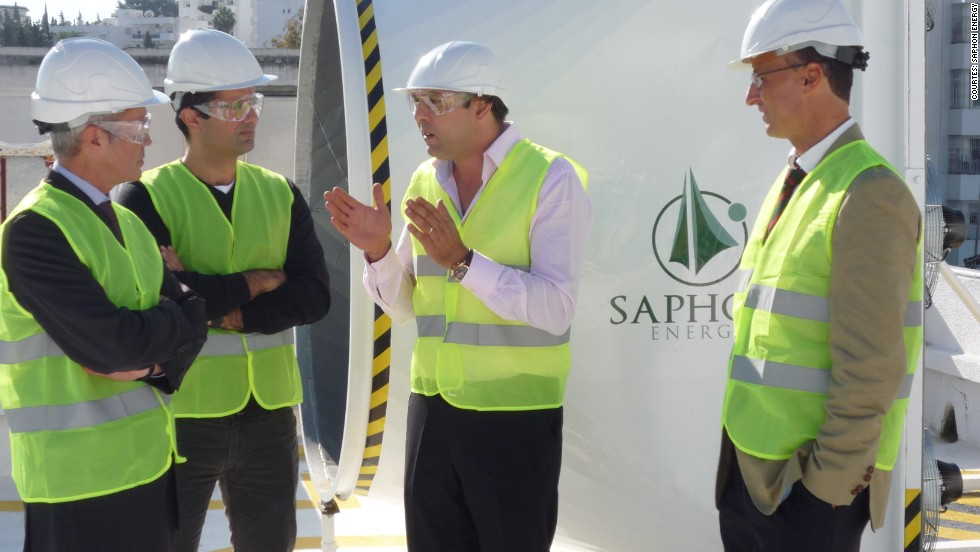 Anis Aouini, Saphonian's inventor, chairman and co-founder [inset right] and Hassine Labaied, chief executive officer and co-founder [inset left] believe Saphon Energy could spur entrepreneurship in Tunisia.<br />