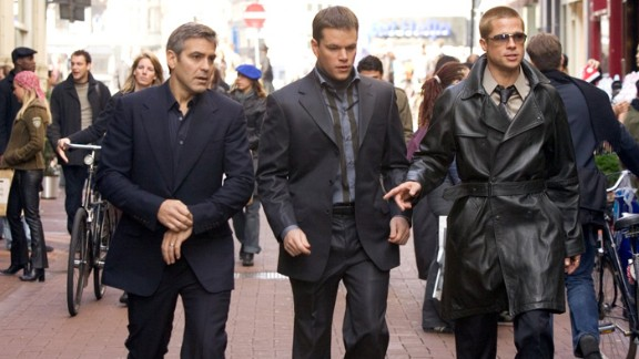 """George Clooney, Matt Damon and Brad Pitt brought back the gang from """"Oceans Eleven"""" in the 2004 sequel """"Ocean's Twelve."""""""