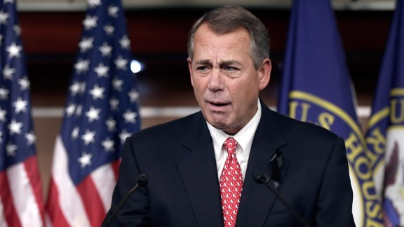 "Boehner blasts conservative groups during a press conference in December 2013 after passing a compromise budget deal aimed at removing the threat of another government shutdown. Fed up with criticism from conservative advocates, Boehner said they were ""misleading their followers."" He followed up with: ""Frankly, I just think that they've lost all credibility."""