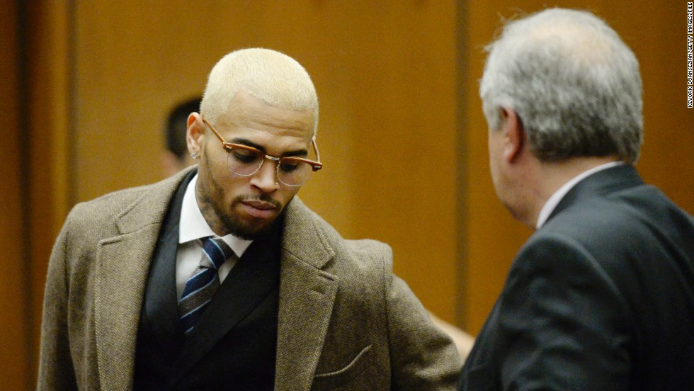 "But Chris Brown has had a tougher go of 2013. In addition to his <a href=""http://www.cnn.com/2013/10/29/showbiz/chris-brown-rehab/"">court-ordered rehab</a> (which he was <a href=""http://www.cnn.com/2013/11/20/showbiz/chris-brown-rehab/"">kicked out of</a>, and could still spell jail time for the singer in 2014), Brown just had his<a href=""http://www.cnn.com/2013/12/16/showbiz/chris-brown-probaton-revoked/""> probation revoked</a> from an October arrest in Washington."