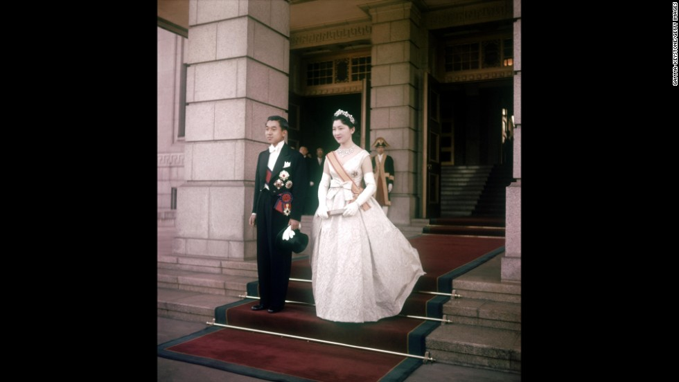 Akihito became the first Japanese emperor in the royal household's 1,500-year history to marry someone outside of the aristocracy.