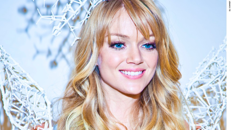 "Rothenberg 3-D scanned Lindsay Ellingson's body to ensure a perfect fit. <a href=""http://www.swarovski.com/Web_US/en/index"" target=""_blank"">Swarovski</a> made her sparkle with thousands of crystals."