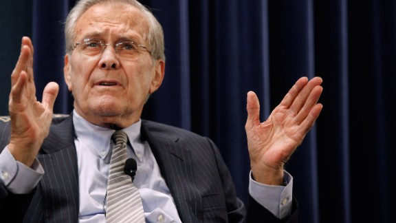 Former US Secretary of Defense Donald Rumsfeld in 2011.