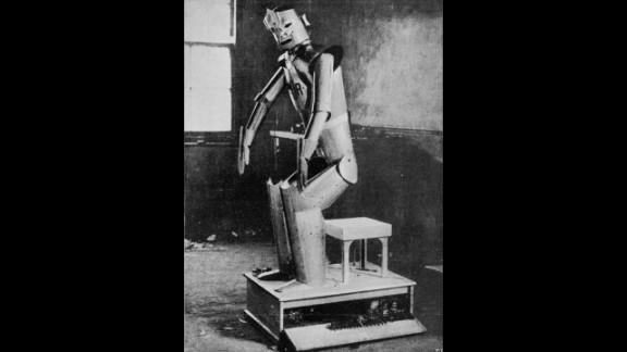 """This 1929 image shows one of the cast from Karel  Capek''s drama, ''Rossum's Universal Robots."""" The play is the first known use of the term """"robot."""""""