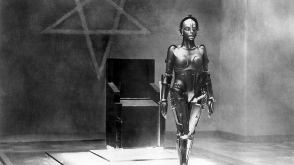 """German actress Brigitte Helm (1906 - 1996) as the """"Maschinenmensch,"""" the robot double of Maria, in 1927's classic film """"Metropolis,"""" directed by Fritz Lang."""