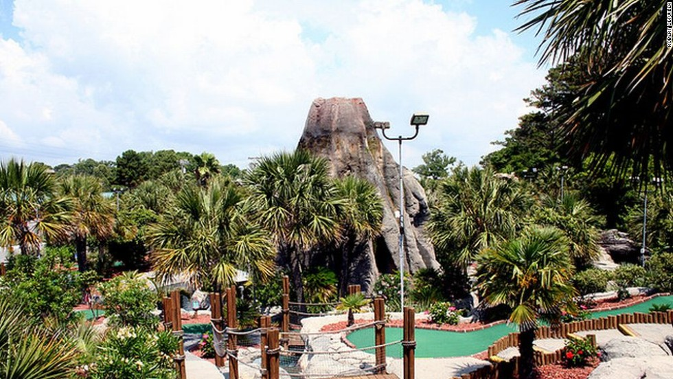 Minigolf courses evolved to include obstacles, and now we have fantastical structures like the Hawaiian Rumble course in Myrtle Beach, home of the smaller game's Masters.